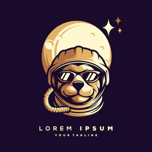 Vector de diseño de logotipo de astronauta Vector Premium