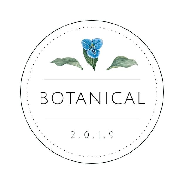 Vector de diseño de logotipo botánico redondo vector gratuito