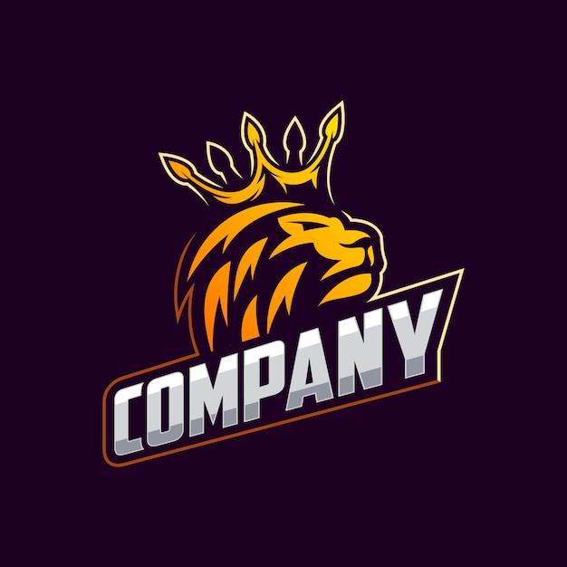 Vector de diseño de logotipo de león impresionante Vector Premium