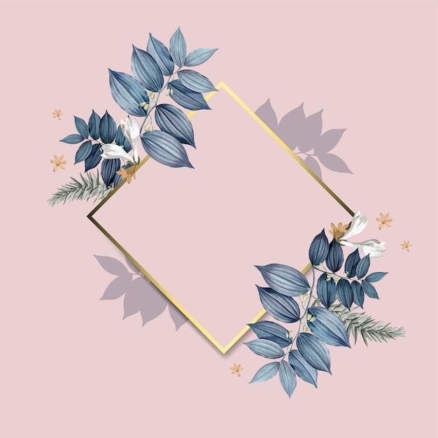 Vector de diseño de marco floral vacío vector gratuito