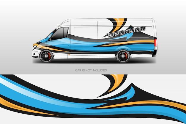 Vector de diseños de envoltura de coche Vector Premium
