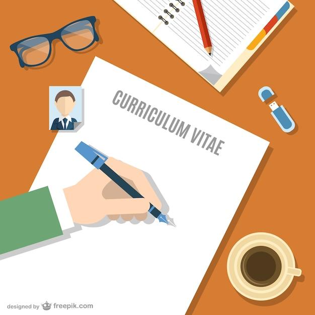 Vector escribiendo currículum vitae | Descargar Vectores gratis