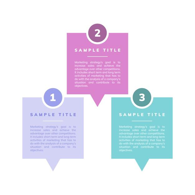 Vector de estrategia y objetivos de marketing. vector gratuito