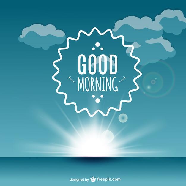 Vector etiqueta de buenos días Vector Gratis