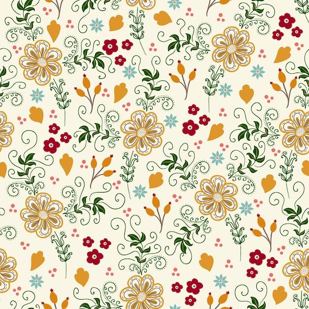 Vector Flor Sin Fisuras Patrón De Fondo. Textura Elegante