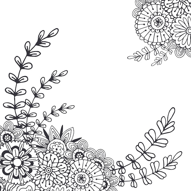 Vector flores abstractas para la decoraci n p gina de for Decoracion de paginas