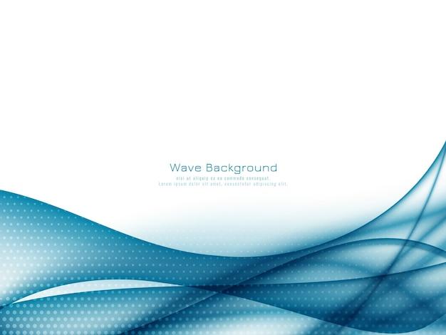 Vector de fondo abstracto elegante onda azul vector gratuito