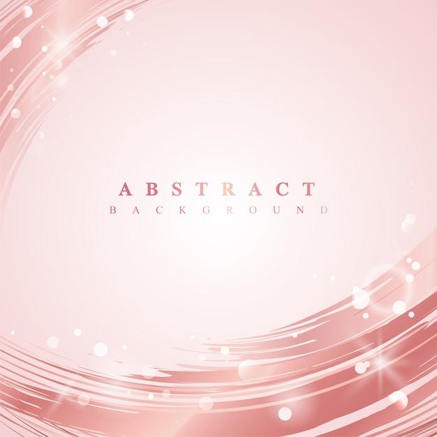 Vector de fondo abstracto de onda rosa vector gratuito