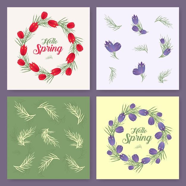 Vector fondo de primavera. tiempo de primavera. flores de primavera ...