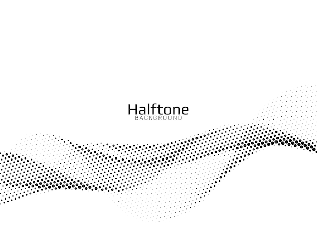 Vector de fondo de diseño de semitono de estilo de onda vector gratuito