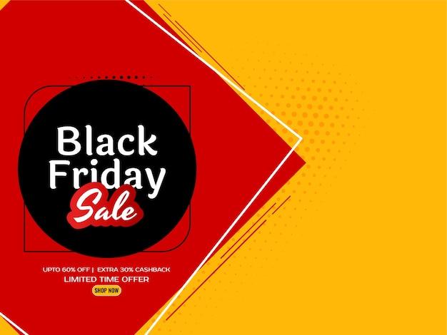 Vector de fondo elegante amarillo brillante de venta de viernes negro vector gratuito