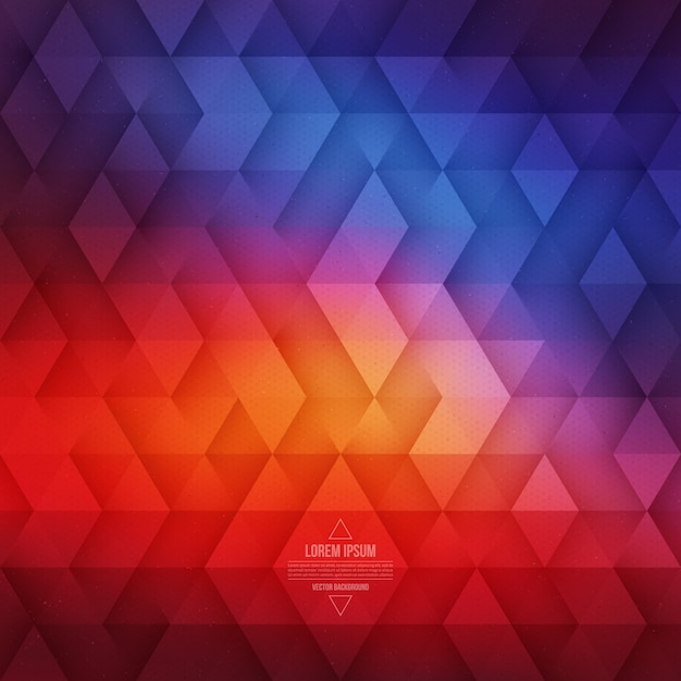 Vector de fondo geométrico abstracto triangular Vector Premium