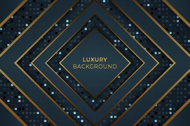 Vector de fondo de lujo azul dorado oscuro Vector Premium
