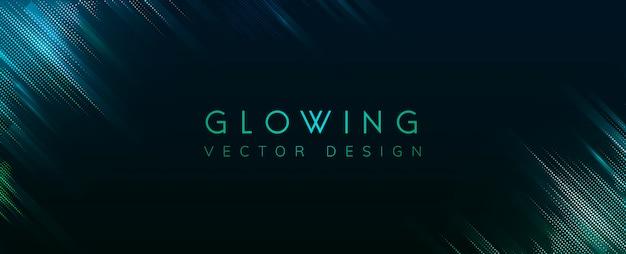 Vector de fondo de neón brillante verde vector gratuito