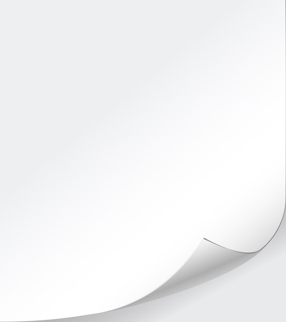 Vector de fondo de papel blanco con esquina rizada vector gratuito