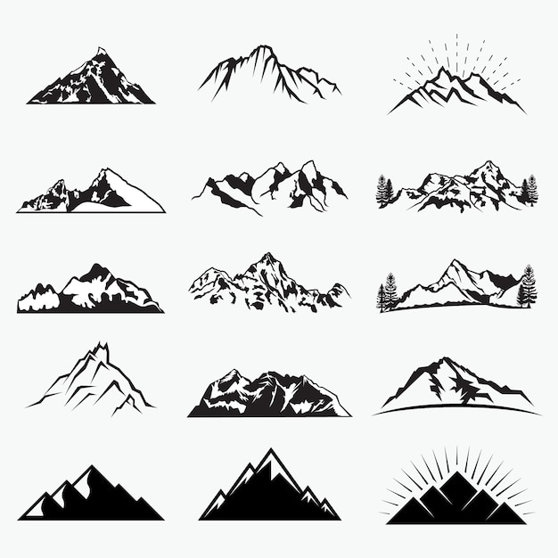 Vector formas de montaña Vector Premium