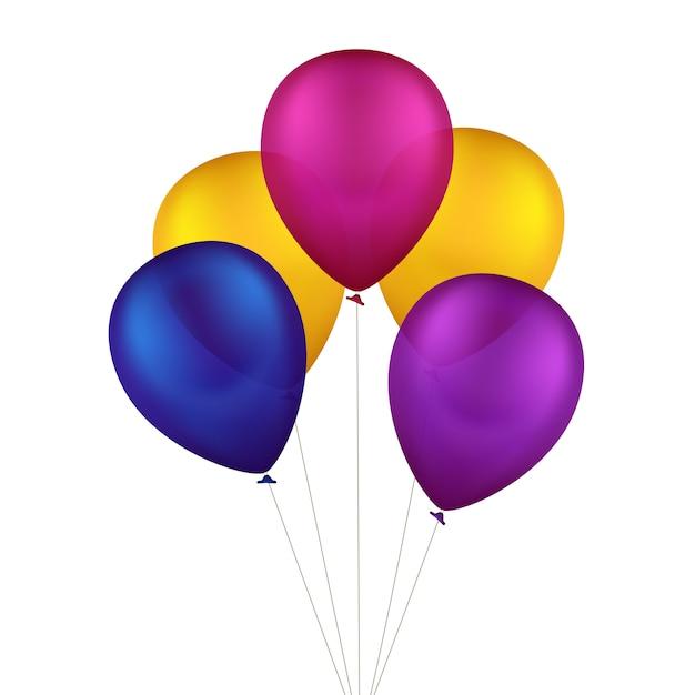Vector globos de colores multicolores Vector Premium
