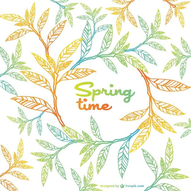 Vector con hojas de primavera | Descargar Vectores gratis