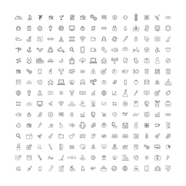 Vector illustration ui concepto de icono universal vector gratuito