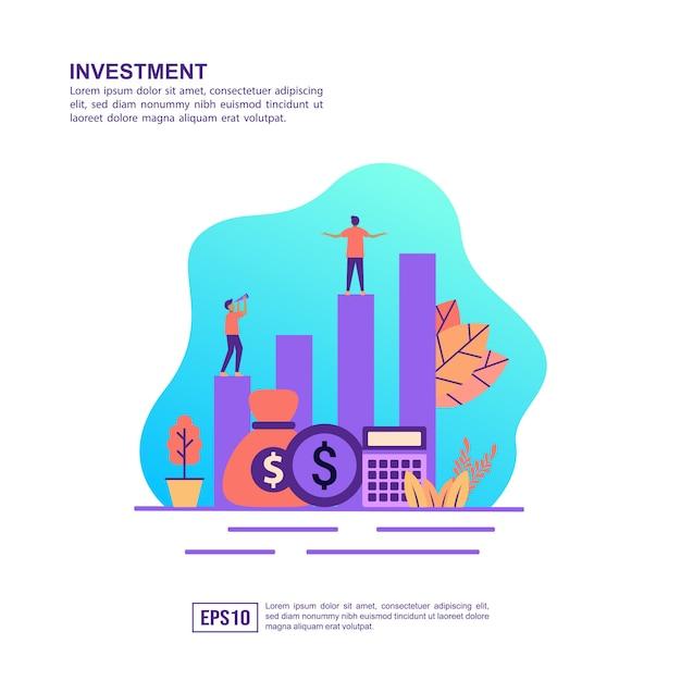 Vector ilustración concepto de inversión Vector Premium