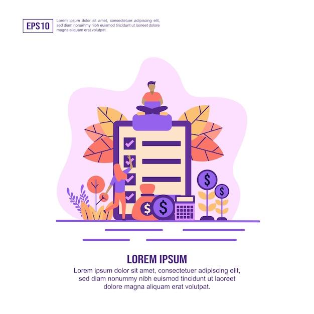 Vector ilustración concepto de pago de sueldo Vector Premium