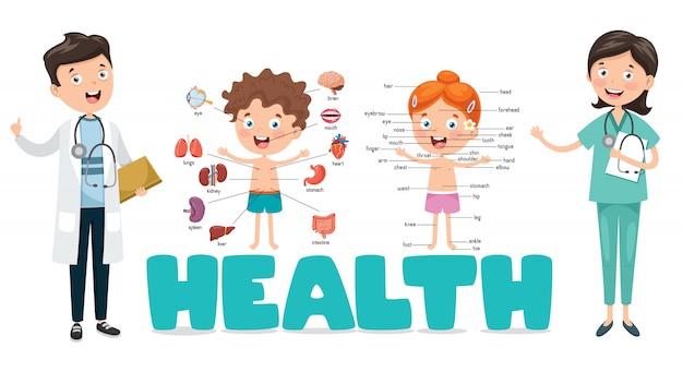 Vector ilustración médica y salud Vector Premium