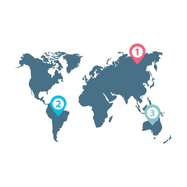 Vector de infografía de distribución de negocios mundiales vector gratuito