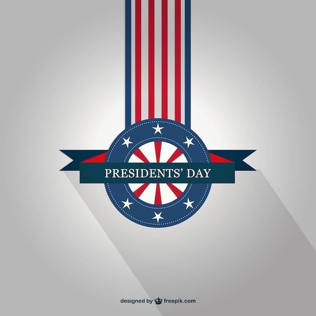 Vector insignia de día del presidente vector gratuito