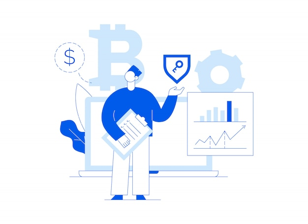 Vector de inversión en bitcoin Vector Premium