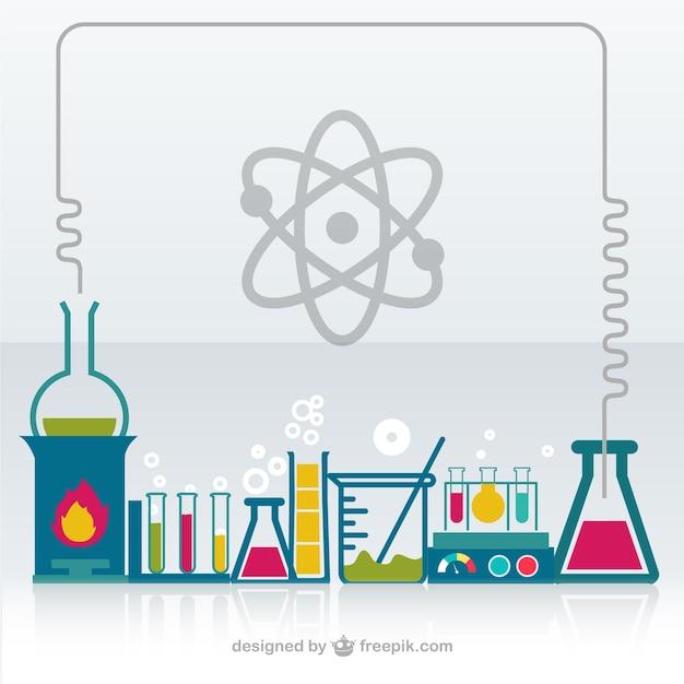 Vector laboratorio de química vector gratuito