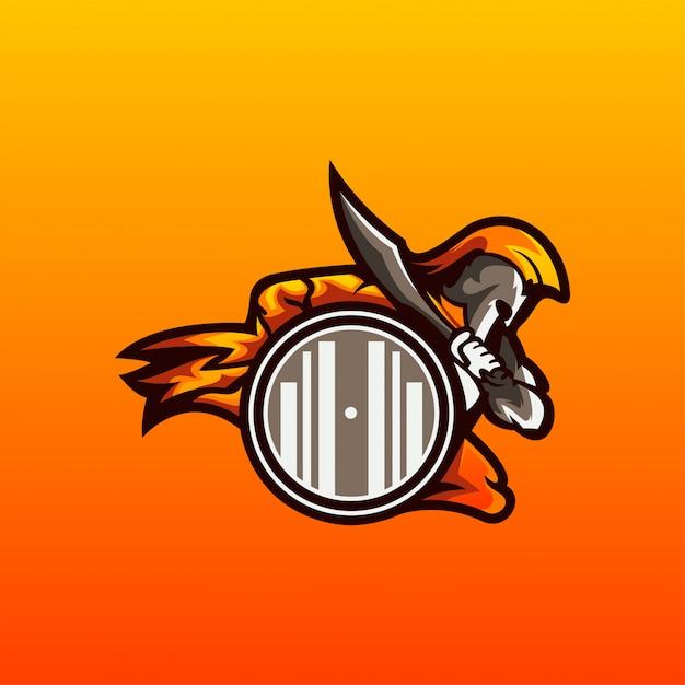 Vector logo espartano Vector Premium