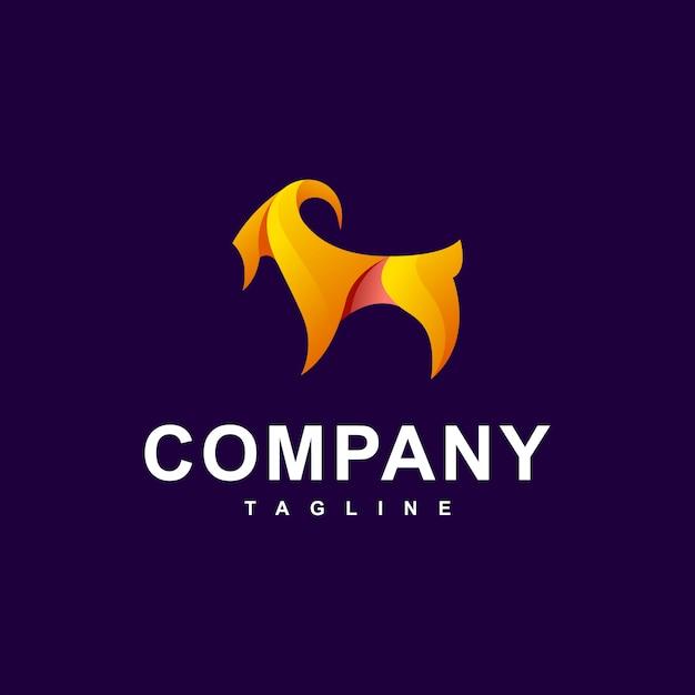 Vector logo moderno de cabra Vector Premium