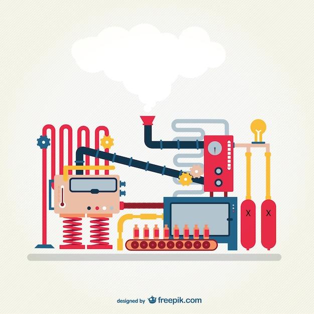 Vector de máquina industrial vector gratuito