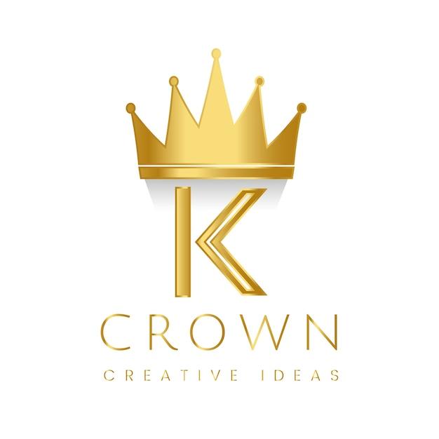 Vector de la marca de la corona premium k vector gratuito