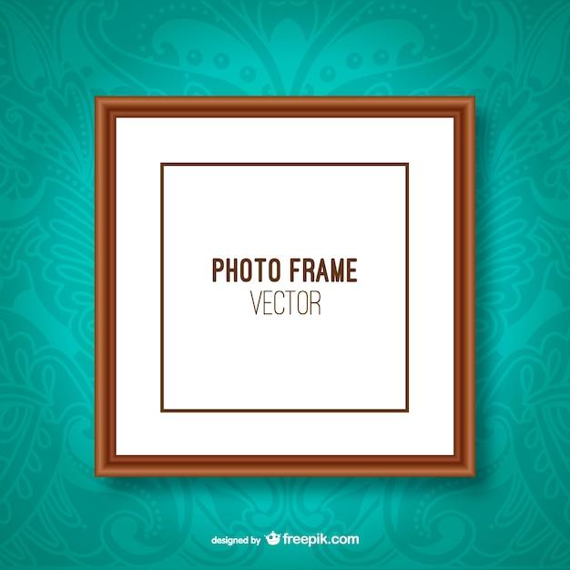 Vector de marco clásico para foto vector gratuito