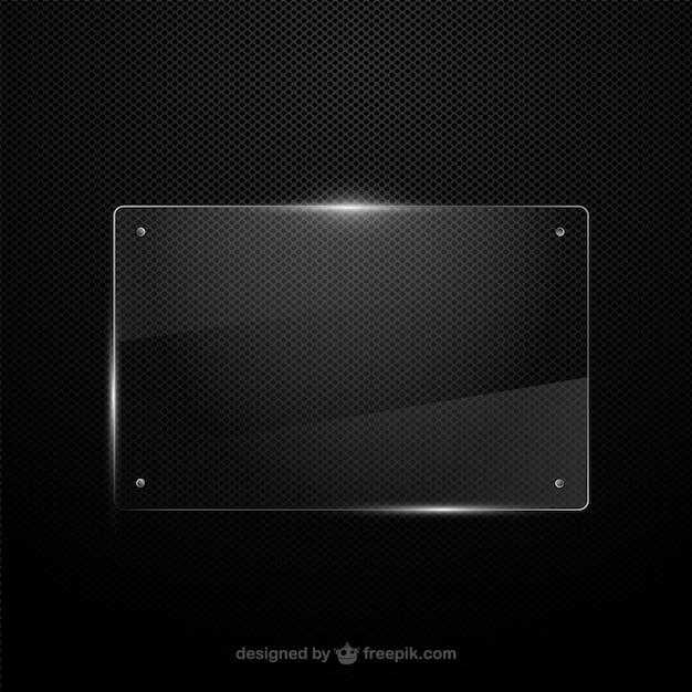 Vector marco de cristal | Descargar Vectores gratis
