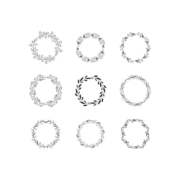 Vector de marco de monograma de corona Vector Premium