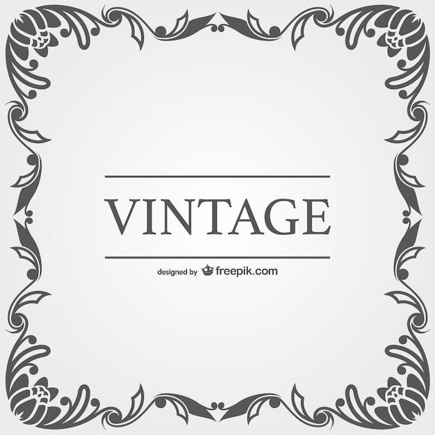 Vector con marco vintage   Descargar Vectores gratis