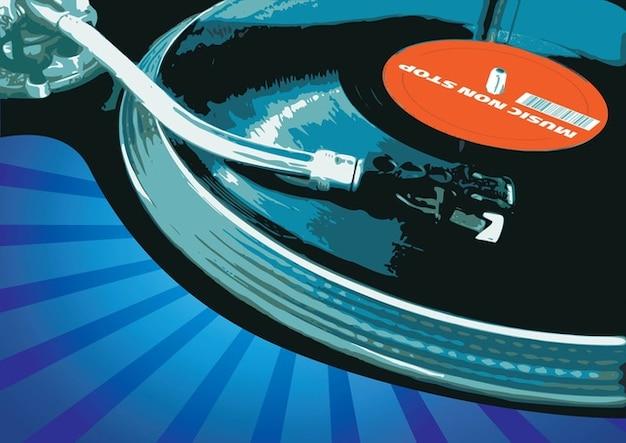 Vector m sica tocadiscos descargar vectores gratis - Plato discos vinilo ...