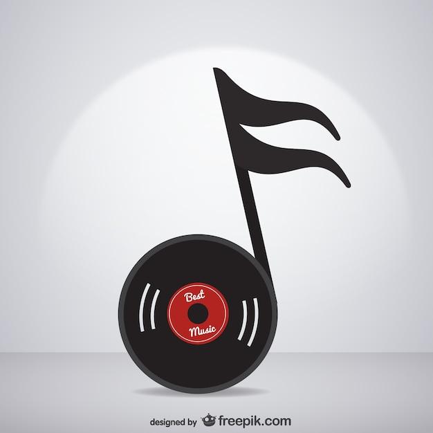 Vector Nota Musical Con Forma De Disco Descargar Vectores Gratis