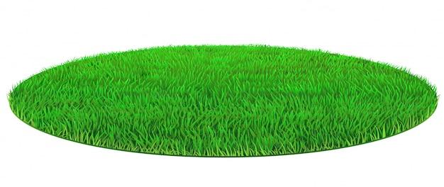 Vector oval verde césped textura de hierba Vector Premium