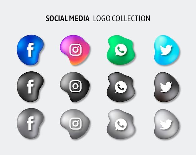 Vector de paquete de logotipos de redes sociales vector gratuito