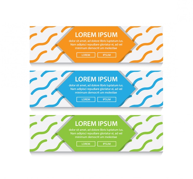 Vector de patrón abstracto diseño web banner Vector Premium