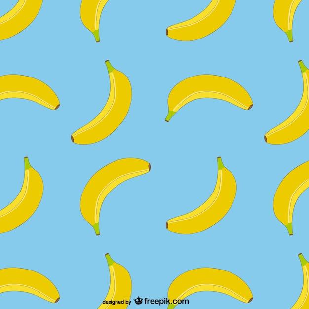 Vector patrón de plátanos vector gratuito