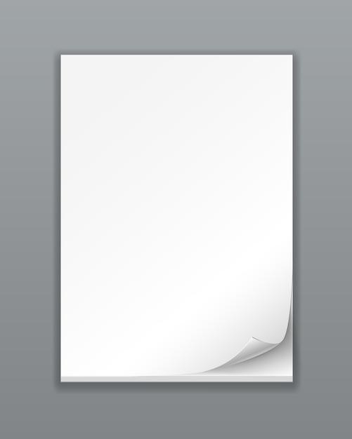 Vector pila de papel vacío en blanco vector gratuito