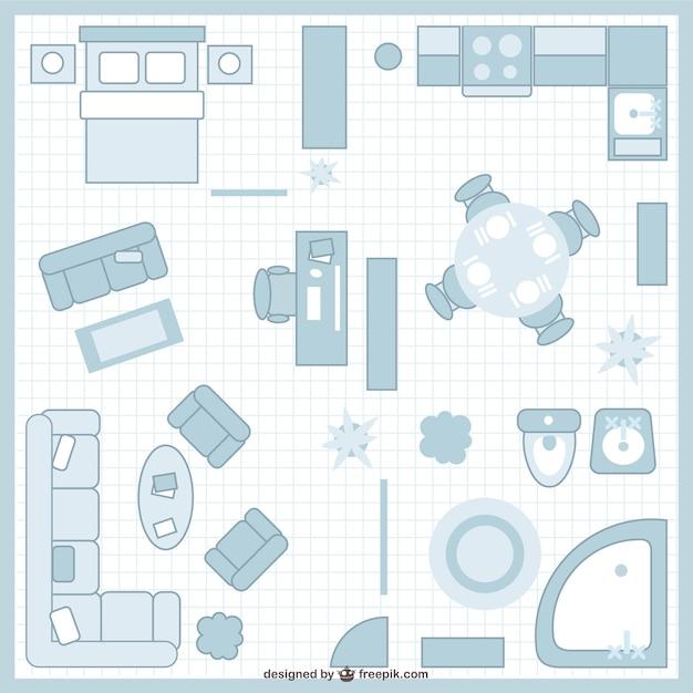 planos de casas vectores