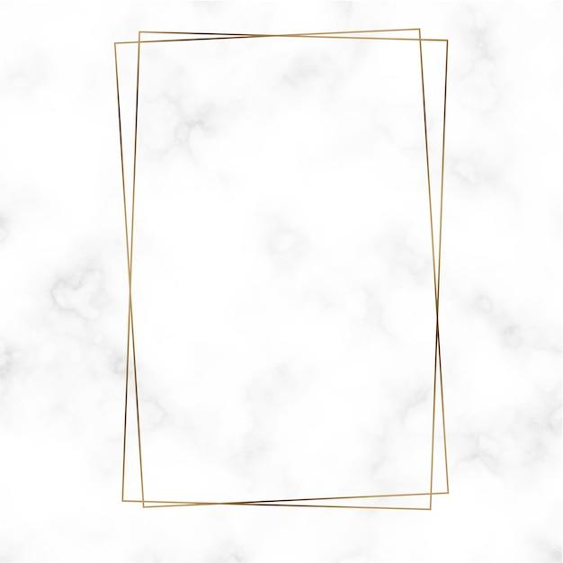 Vector de plantilla de marco de rectángulo de oro vector gratuito