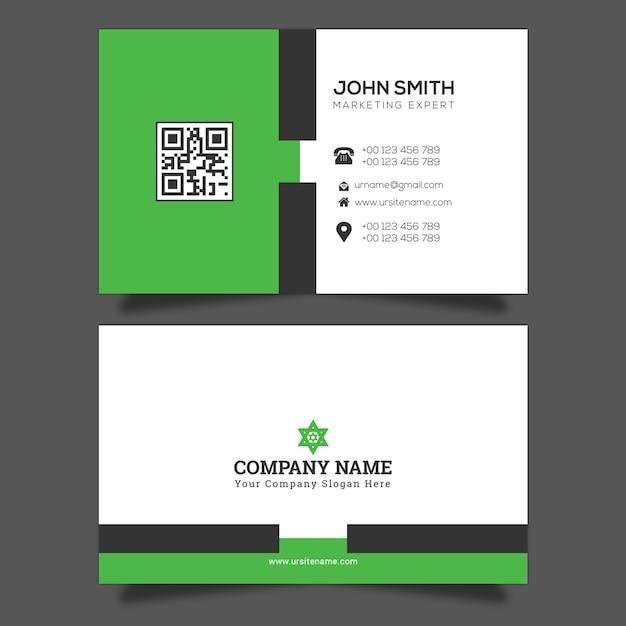 Vector de plantilla de tarjeta de visita Vector Premium