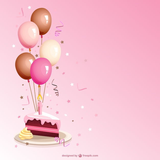 Vector de porción de tarta de cumpleaños vector gratuito