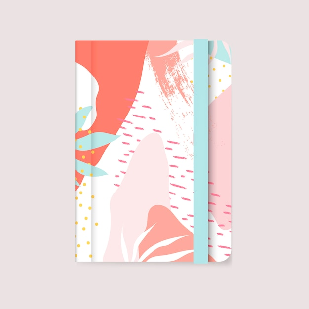 Vector de portada de diseño colorido de memphis vector gratuito